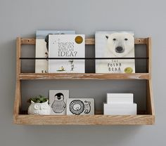 Keep their favorite tales and treasures organized and on display with our rustically designed Booksmart Shelving. Pottery Barn Kids, Nursery Book, Themed Nursery, Project Nursery, Playroom Organization, Playroom Ideas, Bookshelves Kids, Book Racks, Baby Boy Rooms