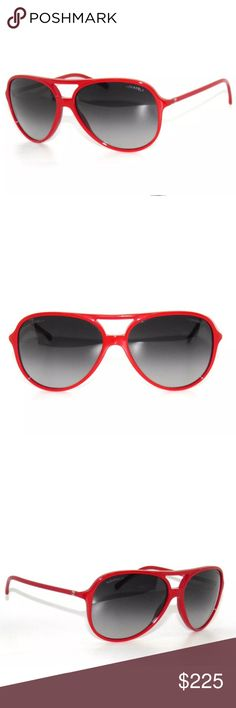 b40cd7f910665 Chanel 5287 Red Frame and Grey Lenses Sunglasses Excellent condition comes  with Chanel Case.