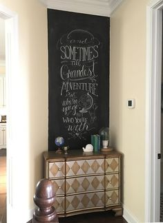 New Chalkboard wall thanks to @_LifeofBliss. Find out how she did it and get some tips and inside tricks in her blog. http://www.rustoleum.com/product-catalog/consumer-brands/specialty/chalkboard-brush-on/