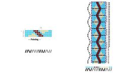 Pattern I designed for tablet weaving                                                                                                                                                      More