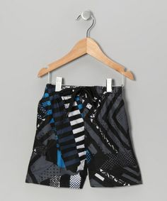 Another great find on #zulily! Charcoal & Royal Tire Tread Swim Trunks - Toddler #zulilyfinds
