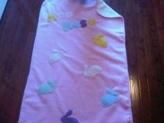 Fleece Baby Blanket: Pink Cream Bunnies