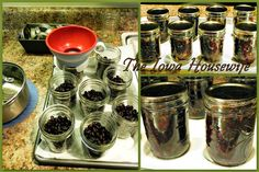 Here's some easy canning for you. We like cooked black beans in soups, casseroles and salads. However, for two, a purchased can is too much. So I can them in half pints, ready to use anytime. A cu