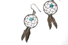 vintage dreamcatcher earrings