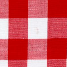 Red 1 Inch Gingham - Fabric By The Yard At Discount Prices