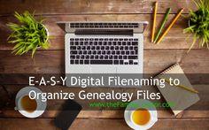 Easy Digital Filenaming for Genealogy Files