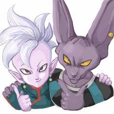 Lord Beerus and Supreme Kai Shin