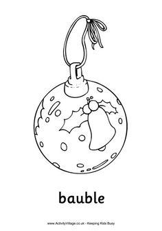 Página para colorir Bola de Natal