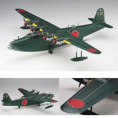 Kawanishi H8K2 1/72 Hasegawa. Unknown Modeler #scalemodel #plastimodelismo #miniatura #miniature #maqueta #maquette #modelismo #modelism #modelisme #plasticmodel #plastickits #usinadoskits #udk #scalemodelkit #hasegawa #diorama #hobby