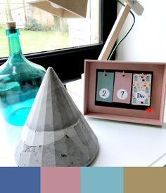 Calendrier perpétuel DIY, pyramide en béton - Papote de pomme