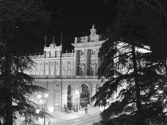 palacio real, desde la ligera naturaleza existente en la calle de bailén...