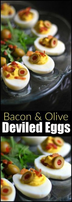 These Bacon & Olive Deviled Eggs are our favorite in the WORLD! The salty olives and bacon with the sweet southern filling are a match made in heaven! Also included are instructions for the PERFECT hard boiled egg!