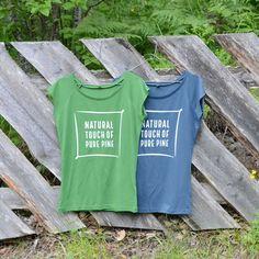 Natural Touch of Pure Pine-painatus N43 Women's Bamboo t-paita