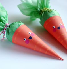 Printable Cute Carrot Easter Treat Bags