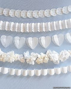 """See the """"Lace Garlands"""" in our DIY Doily Wedding Decorations gallery"""