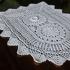 Vintage beautiful doily Retro crochet lace napkin Old by MyWealth