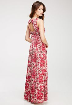 FOREVER 21 Abstract Floral Print Maxi Dress