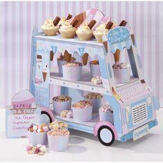 """Présentoir à desserts """"camion de glaces"""""""
