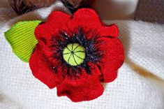 very impressed with hat too. such a gorgeous hat, another amazing buy :). Black Wool, Red Black, Hat Flower, Corsage Pins, Jacket Pins, Wool Cape, Remembrance Day, Handmade Christmas Gifts, Brooches Handmade