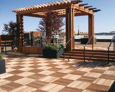 Plaza Decks, Composite Deck Tiles, Outdoor Deck Tiles, IPE Decking Tiles, Interlocking Wood Deck Tiles, Wooden Deck Tiles
