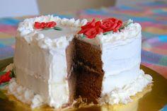 White and black chocolate cake
