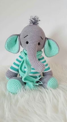 Baby Knitting Patterns Toys My krissie dolls Knitting Patterns Toys An Elephant in a green sweater:) Knitting Patterns Toys This is so cute,hope I can make it! Amigurumi T-Rex Free Pattern 1 - Salvabrani Crochet Pattern - Frida the Fr Elli-Phant Elli-Phan Crochet Animal Patterns, Stuffed Animal Patterns, Baby Knitting Patterns, Crochet Animals, Crochet Elephant Pattern Free, Afghan Patterns, Crochet Patterns Amigurumi, Crochet Dolls, Amigurumi Doll