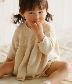 Knit baby sweater dress - seeing this little girl made me cry, so cute
