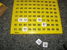 Number Sense Through The Hundred Board | Fuel the Brain Teacher Guides.  Guess the number game using hundred chart or printable.