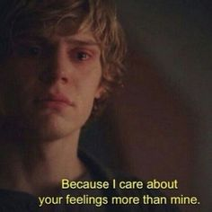 Imagen de american horror story, feelings, and ahs Ahs, King Of The South, Tate And Violet, American Horror Story 3, Roman, Movie Lines, Film Quotes, Amazing Quotes, Mood Quotes