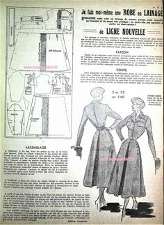 Sewing Hems, Sewing Blouses, Vintage Dress Patterns, Clothing Patterns, Doll Patterns, Couture Sewing Techniques, Patron Vintage, 40s Fashion, Pattern Drafting