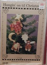 """Hanging on til Christmas"" Homespun at Heart 4""  doll sewing craft pattern AG"