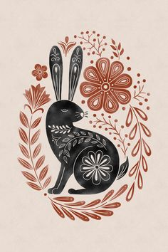 Easter wishes - DimitriAna rabbit illustration draw Easter Illustration, Rabbit Illustration, Cat Illustrations, Floral Embroidery Patterns, Bird Embroidery, Indian Embroidery, Embroidery Stitches, Embroidery Designs, Easter Wishes