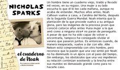 El cuaderno de Noah- Nicholas Sparks ⭐️⭐️⭐️