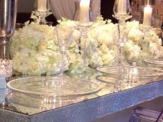 Our bling, mirrored top table is sure to make your event shine. #amemorableevent