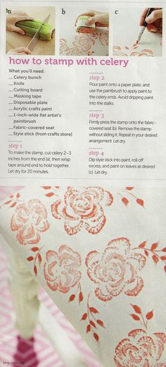 Stamp with celery - Do It Yourself Magazine (Spring 2013)