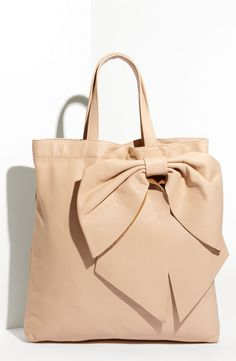 RED Valentino Calfskin Bow Tote