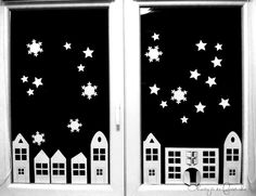 Okostojás és Fasírtcsibe : TÉLI ABLAKDÍSZ (nem csak) A GYEREK- SZOBÁBA Christmas Inspiration, Art