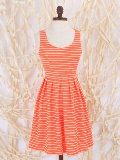 Altar'd State Striped Sweetheart Dress
