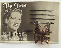Vintage-Hair-Barrettes-Tortoise-Shell-Butterfly-Slide-Barrette-Bobby-Pins