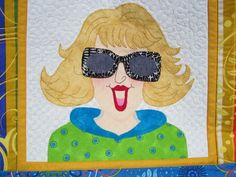Portrait with changeable shades. Based on Amy Bradley design.