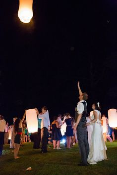Lanterns to Cap Off a Special Evening Photo By Lelia Marie Photography