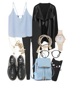 """""""Ain't nobody loves me better than you"""" by africaouass on Polyvore featuring moda, Dr. Martens, Unique, Topshop, MANGO, DesignSix, Ray-Ban, Blue, babyblue y aintnobody"""