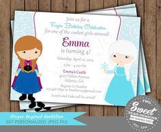 Frozen Invitation Princess Anna Elsa Disney Inspired by 2SweetTeas, $16.00