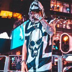 Summer Fashion Tips Iryo tank top.Summer Fashion Tips Iryo tank top Skull Tank Tops, Skull Shirts, Tank Top Shirt, T Shirt, Japanese Streetwear, Skull Hoodie, Sleeveless Hoodie, Punk Fashion, Fashion 2020
