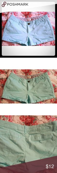 Light blue shorts Light blue shorts nwot never worn (size 7 ) stretch material summer spring shorts nwot Tags: guess bebe American Eagle shorts fashionnova shorts leggings bodycon stretch summer spring vacation  No trades ) brand is so' from kohl's not American eagle cute shorts thanks for looking:) American Eagle Outfitters Shorts