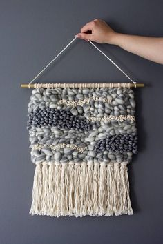 Items similar to Woven Wall Hanging/Tapestry Weaving/Wall Decoration/Organic Wall Hanging on Etsy – Nancy Gonzalez – weberei Weaving Wall Hanging, Weaving Art, Tapestry Weaving, Tapestry Wall Hanging, Hand Weaving, Wall Hangings, Gold Paint, Basket Weaving, Arts And Crafts