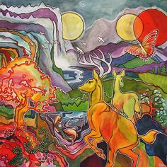 Yesterday's California - 4 x 4 foot painting for sale, half to benefit Forests Forever organization