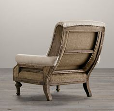 Deconstructed English Club Chair Belgian Linen Sand