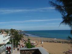 Walking from San Augustin to Playa del Ingles Gran Canaria.