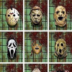 Horror Movie Masks, I love horror movies so much. I also love scary stories. Horror Movie Characters, Horror Movies, Horror Villains, Slasher Movies, Funny Horror, Cult Movies, Horror Masks, I Love Cinema, Horror Icons